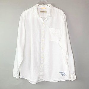 Tommy Bahama Relax Linen Shirt Sz XL White